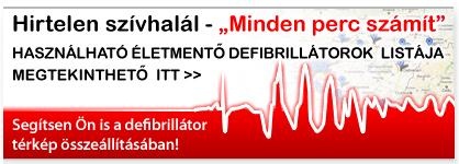 Haszn�lhat� �letment� defibrill�torok list�ja