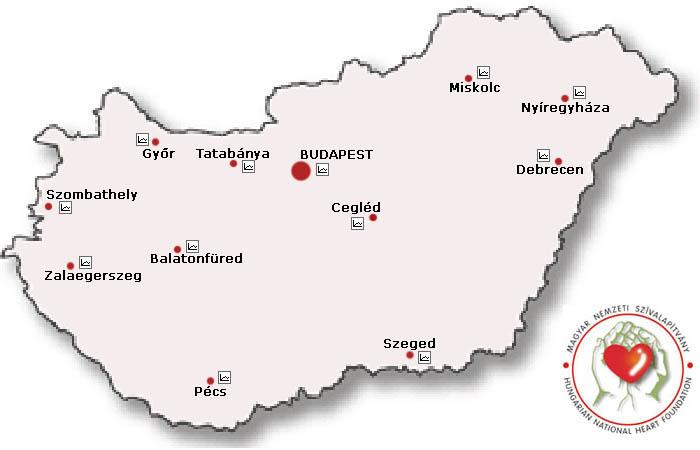 magyarország térkép cegléd Szívközpontok Magyarországon   Szívtérkép   kiemelt kardiológiai  magyarország térkép cegléd